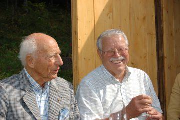 Walter Scheel zu Besuch bei Dr. Manfred Vohrer auf dem Stohren